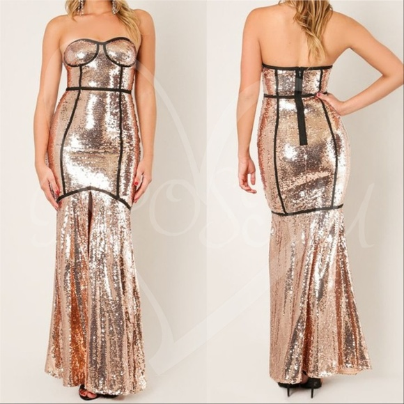Dresses & Skirts - WOMENS FASHION Sequin Maxi Dress Christmas Holiday